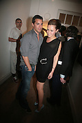 JAMIE DINER AND CAMILLA AL FAYED,  Twenty Hoxton Square. Opening exhibition of new gallery at Twenty Hoxton Square. -DO NOT ARCHIVE-© Copyright Photograph by Dafydd Jones. 248 Clapham Rd. London SW9 0PZ. Tel 0207 820 0771. www.dafjones.com.