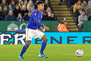James Justin (2) during the The FA Cup match between Leicester City and Wigan Athletic at the King Power Stadium, Leicester, England on 4 January 2020.