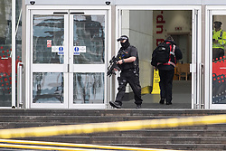© Licensed to London News Pictures. 11/10/2019. Manchester, UK. Terrorism Police are investigating after four people were stabbed during a single attack at the Arndale Centre in Manchester City Centre . Photo credit: Joel Goodman/LNP