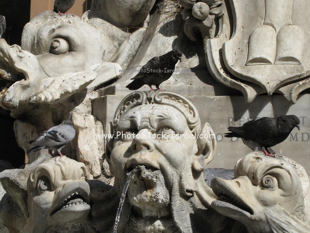 Italy, Rome, Fountain at Piazza della rotonda