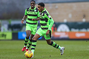 Forest Green Rovers Reece Brown(10) on the ball during the EFL Sky Bet League 2 match between Forest Green Rovers and Cambridge United at the New Lawn, Forest Green, United Kingdom on 20 January 2018. Photo by Shane Healey.