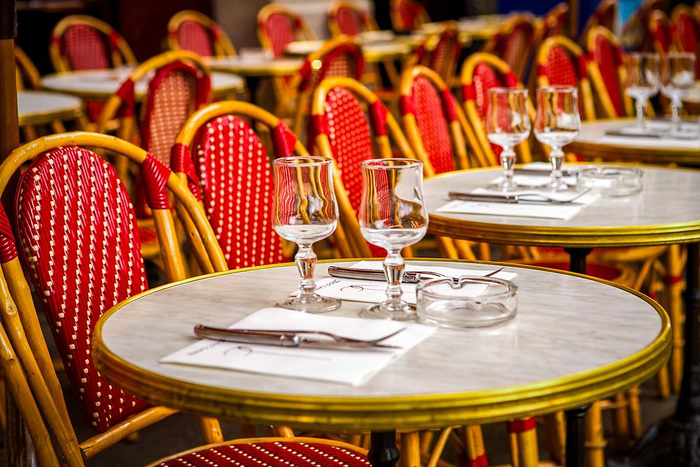 Parisian Sidewalk Cafe tables