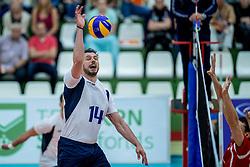 23-05-2017 NED: 2018 FIVB Volleyball World Championship qualification, Koog aan de Zaan<br /> Moldavi&euml; - Griekenland / Sotirios Pantaleon #14