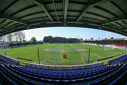 A general view of the stadium - Mandatory by-line: Arron Gent/JMP - 19/04/2019 - FOOTBALL - Cherry Red Records Stadium - Kingston upon Thames, England - AFC Wimbledon v Bristol Rovers - Sky Bet League One- Mandatory by-line: Arron Gent/JMP - 19/04/2019 - FOOTBALL - Cherry Red Records Stadium - Kingston upon Thames, England - AFC Wimbledon v Bristol Rovers - Sky Bet League One