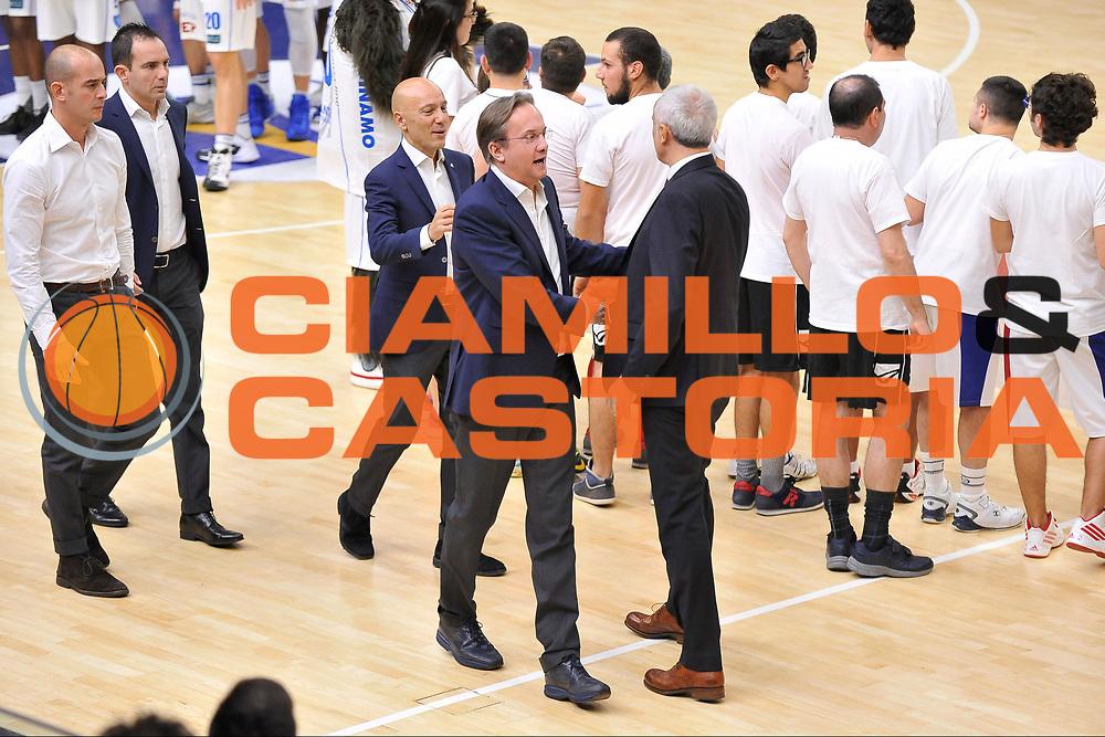 Federico Pasquini - Cesare Pancotto<br /> Banco di Sardegna Dinamo Sassari - Vanoli Cremona<br /> LegaBasket Serie A LBA Poste Mobile 2016/2017<br /> Sassari 26/11/2016<br /> Foto Ciamillo-Castoria