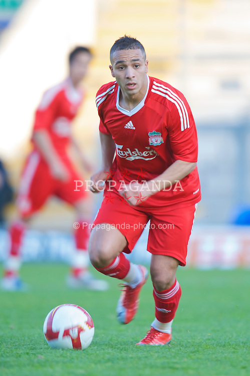 WARRINGTON, ENGLAND - Wednesday, April 29, 2009: Liverpool's Nabil El Zhar in action against Newcastle United during the FA Premiership Reserves League (Northern Division) match at the Halliwell Jones Stadium. (Photo by David Rawcliffe/Propaganda)