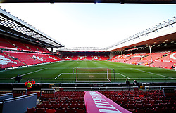 A general view of Anfield Stadium ahead of the Barclays Premier League clash between Liverpool and Manchester City - Photo mandatory by-line: Matt McNulty/JMP - Mobile: 07966 386802 - 01/03/2015 - SPORT - Football - Liverpool - Anfield Stadium - Liverpool v Manchester City - Barclays Premier League
