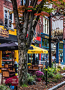 Charming shops and town of Keene, New Hampshire, USA