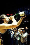 Europei Francia 1983 - Nantes: Dino Meneghin festeggia la vittoria