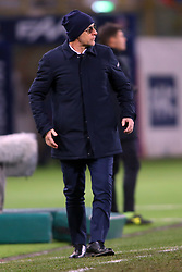 """Foto Filippo Rubin<br /> 24/02/2018 Bologna (Italia)<br /> Sport Calcio<br /> Bologna - Genoa - Campionato di calcio Serie A 2017/2018 - Stadio """"Renato Dall'Ara""""<br /> Nella foto: DAVIDE BALLARDINI (ALLENATORE GENOA)<br /> <br /> Photo by Filippo Rubin<br /> February 24, 2018 Bologna (Italy)<br /> Sport Soccer<br /> Bologna vs Genoa - Italian Football Championship League A 2017/2018 - """"Renato Dall'Ara"""" Stadium <br /> In the pic: DAVIDE BALLARDINI (ALLENATORE GENOA)"""