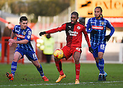 Crawley Town Forward Gavin Tomlin on the ball during the Sky Bet League 2 match between Crawley Town and Notts County at the Checkatrade.com Stadium, Crawley, England on 16 January 2016. Photo by David Charbit.