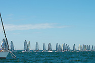 Forty-five boats on the line at the first of three events in the Audi Melges 20 Winter Series in Miami.  A similar series is held in Monaco for the boats that don't cross The Pond.