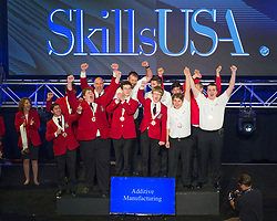 The 2017 SkillsUSA National Leadership and Skills Conference Competition Medalists were announced Friday, June 23, 2017 at Freedom Hall in Louisville. <br /> <br /> Additive Manufacturing<br /> <br /> Team N (consisting of Cameron McLaughlin, Mathew Marinelli)<br />   High School Assabet Valley Regional Tech High School<br />   Gold Marlborough, MA<br /> Additive ManufacturingTeam P (consisting of Andrew Schalk, Braden Clayberg)<br />   High School Stafford Senior High School<br />   Silver Falmouth, VA<br /> Additive ManufacturingTeam S (consisting of Andrew Daddone, Trevor Wheelock)<br />   High School Frederick County Career & Tech Center<br />   Bronze Frederick, MD<br /> Additive ManufacturingTeam I (consisting of Thomas Houston, Collin Gaddes)<br />   College Calhoun Community College<br />   Gold Decatur, AL<br /> Additive ManufacturingTeam H (consisting of Mattias Anderson, James Bruce)<br />   College Butte College<br />   Silver Oroville, CA<br /> Additive ManufacturingTeam F (consisting of Amadeo Verstegen, Timothy Myers)<br />   College Madison Area Technical College<br />   Bronze Madison, WI