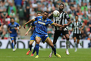 AFC Wimbledon defender Darius Charles (32) during the Sky Bet League 2 play off final match between AFC Wimbledon and Plymouth Argyle at Wembley Stadium, London, England on 30 May 2016.