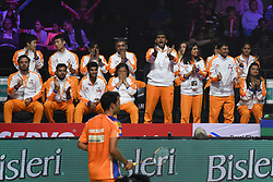 January 13, 2018 - Hyderbad, Telangana, India - Amhmedabad Smash Masters Team players During PBL 2nd Semi Final Bengaluru Blasters Vs Amhedabad Smash Masters (Credit Image: © Varun Kumar Mukhia/Pacific Press via ZUMA Wire)