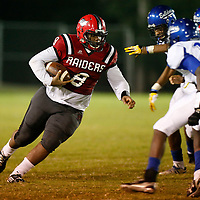 Thomas Wells | Buy at PHOTOS.DJOURNAL.COM<br /> Shannon running back Vinent Mcintosha and all his 295 pounds runs right at the Aberdeen defense who had a hard time slowing him down.