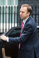 Downing Street, London, July 5th 2016. Paymaster General Matt Hancock arrives at 10 Downing Street for the weekly cabinet meeting