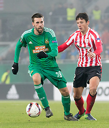 08.12.2016, Weststadion, Wien, AUT, UEFA EL, SK Rapid Wien vs Athletic Club Bilbao, Gruppe F, im Bild Tomi Correa (SK Rapid Wien), Mikel Vesga (Athletic Club Bilbao) // during a UEFA Europa League, group F game between SK Rapid Wien and Athletic Club Bilbao at the Weststadion, Vienna, Austria on 2016/12/08. EXPA Pictures © 2016, PhotoCredit: EXPA/ Sebastian Pucher