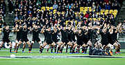 All Blacks Haka during the Rugby Championship match between the New Zealand All Blacks & South Africa at Westpac Stadium, Wellington on Saturday 27th July 2019. Copyright Photo: Grant Down / www.Photosport.nz