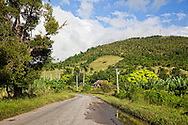 Country road in Vista Alegre, Holguin, Cuba.