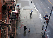 © Licensed to London News Pictures. 31/12/2012. NYC, USA . A street seen from the The High Line. Photo credit : Stephen Simpson/LNP