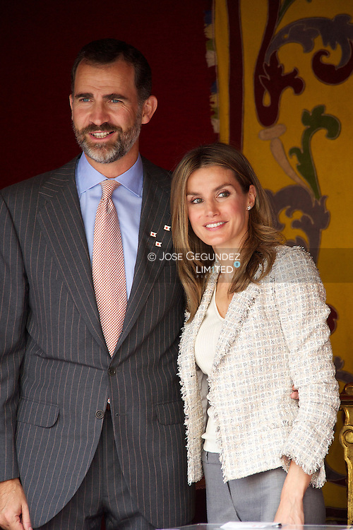 Princess Letizia of Spain and Prince Felipe of Spain attend the Red Cross Fundraising Day in Madrid, Spain