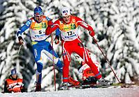 Langrenn<br /> FIS World Cup<br /> 07.12.2008<br /> La Clusaz Frankrike<br /> Stafett menn<br /> Foto: Gepa/Digitalsport<br /> NORWAY ONLY<br /> <br /> Bild zeigt Tore Ruud Hofstad (NOR) und Teemu Kattilkoski (FIN)