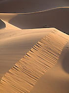 Light and shadow on sand dunes, Merzouga, Sahara Desert, Morocco