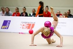 Aleksandra Podgorsek of Slovenia competes during 31st MTM - International tournament in rhythmic gymnastics Ljubljana, on April 7, 2018 in Gymnastics center Ljubljana, Ljubljana, Slovenia. Photo by Matic Klansek Velej / Sportida