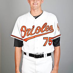 Feb 22, 2013; Sarasota, FL, USA; Baltimore Orioles starting pitcher Kevin Gausman (75) at the Orioles clubhouse. Mandatory Credit: Derick E. Hingle-USA TODAY Sports