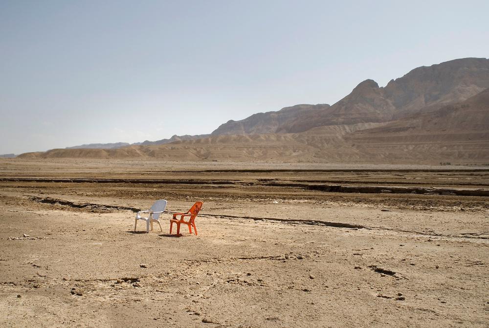 Au bord de la Mer morte, Ein Gedi, Israël.