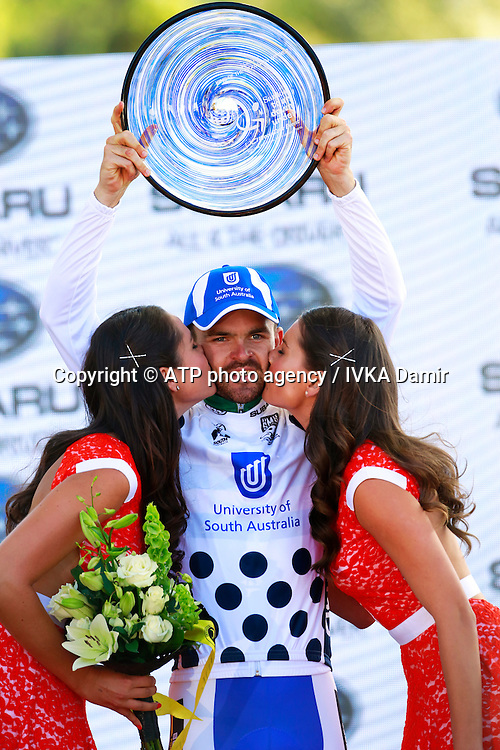 2015 Santos Tour Down Under. Adelaide. Australia.Sunday 25.1.2015. Stage 6. Adealaide Street Circuit.90km<br /> Jack Bobridge on the podium <br /> &copy; ATP / Damir IVKA<br />  - Tour Down Under Australia 2015, Cycling, road race, Radrennen, Australien -  Radsport - Rad Rennen -<br /> - fee liable image: copyright &copy; ATP - IVKA Damir