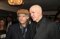 Bob Geldof and Bernard Doherty, the 2011 MITs Award. Held at the Grosvenor Hotel London in aid of Nordoff Robbins and the BRIT School. Monday, Nov.7, 2011
