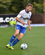 Bury Defender Joe Riley during the Sky Bet League 1 match between Bury and Rochdale at Gigg Lane, Bury, England on 17 October 2015. Photo by Mark Pollitt.