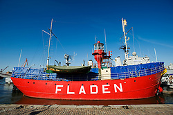 Lightship Fladen on display at Maritime Museum in Gothenburg Sweden