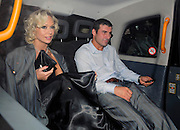 05.OCTOBER.2009. LONDON<br /> <br /> FORMER BOXER JOE CALZAGHE AND STRICTLY COME DANCING DANCER KRISTINA RIHANOFF LEAVING THE PRIDE OF BRITAIN AWARDS WHICH WERE HELD AT THE GROVSENOR HOUSE HOTEL WITH JOE LOOKING A LITTLE WORSE FOR WEAR PRETENDING TO BOX WITH A GIRL WHILE KRISTINA LOOKED ON WEARING HIS JACKET<br /> <br /> BYLINE: EDBIMAGEARCHIVE.COM<br /> <br /> *THIS IMAGE IS STRICTLY FOR UK NEWSPAPERS AND MAGAZINES ONLY*<br /> *FOR WORLD WIDE SALES AND WEB USE PLEASE CONTACT EDBIMAGEARCHIVE - 0208 954 5968*