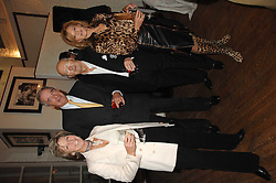 Left to right, GINA SOPWITH, RICHARD BURROWS and    at an exhibition of Joth Shakerley's photographs 'The Rainbow Tribe' held at 49 Glebe Place, London SW10 on 13th November 2007.<br /><br />NON EXCLUSIVE - WORLD RIGHTS
