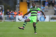 Forest Green Rovers Dale Bennett(2) clears the ball during the EFL Sky Bet League 2 match between Wycombe Wanderers and Forest Green Rovers at Adams Park, High Wycombe, England on 2 September 2017. Photo by Shane Healey.