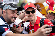ALBERT PARK, VIC - MARCH 15: Scuderia Ferrari Mission Winnow driver Sebastian Vettel arrives at The Australian Formula One Grand Prix on March 15, 2019, at The Melbourne Grand Prix Circuit in Albert Park, Australia. (Photo by Speed Media/Icon Sportswire)