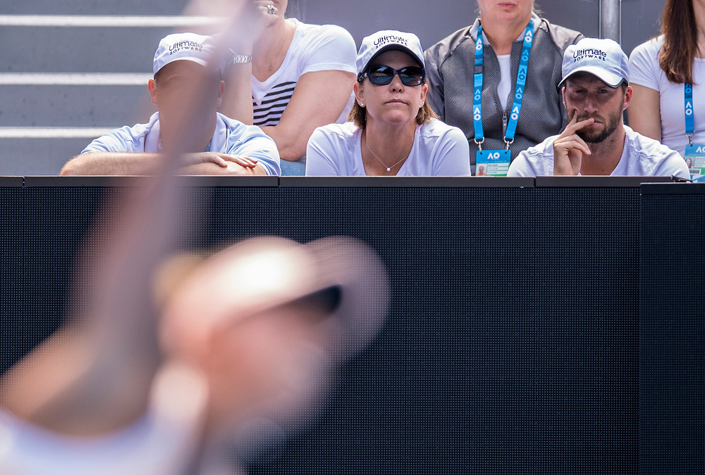 Lindsey Davenport on day ten of the 2018 Australian Open in Melbourne Australia on Wednesday January 24, 2018.<br /> (Ben Solomon/Tennis Australia)