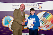 .Successful ?Aviators of the Future? are Recognised at home!. .The Galway Education Centre  honoured 3 teachers and 12 schoolchildren from County Galway who became the first ever international students to participate in the Education programs in the National Flight Academy in Pensacola, Florida, USA this summer!  .Leo Enright  presented Kevin McAndrew from St Enda's  with his certificate. Picture:Andrew Downes