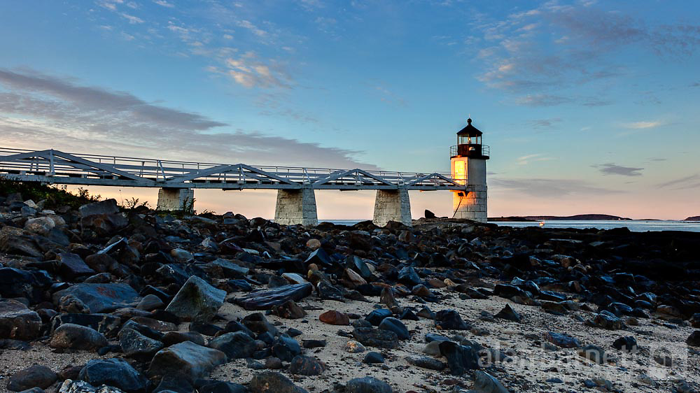 """The Marshall Point Lighthouse in Port Clyde, Maine, was featured in a scene in the movie """"Forrest Gump."""""""