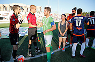 July 23, 2016: OKC Energy FC plays the Tulsa Roughnecks FC in a USL game at Taft Stadium in Oklahoma City, Oklahoma.