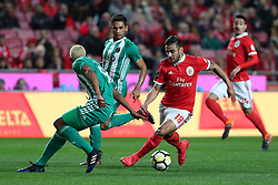 February 3, 2018 - Lisbon, Portugal - Benfica's Argentine midfielder Eduardo Salvio (R ) vies with Rio Ave's defender Marcao during the Portuguese League football match SL Benfica vs Rio Ave FC at the Luz stadium in Lisbon on February 3, 2018. Photo: Pedro Fiuza (Credit Image: © Pedro Fiuza via ZUMA Wire)