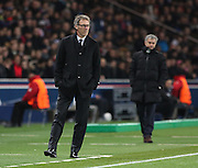 Paris Saint-Germain Manager Laurent Blanc during the Champions League match between Paris Saint-Germain and Chelsea at Parc des Princes, Paris, France on 17 February 2015. Photo by Phil Duncan.