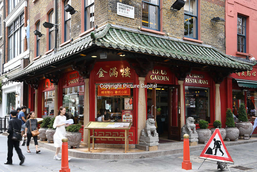 Lotus Garden Chinese restaurants in Chinatown London on July 19 2018, UK
