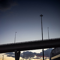 The flyover road at Dover ferry port in Kent England
