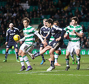 Dundee&rsquo;s Julen Etxabeguren and Celtic's Erik Sviatchenko - Celtic v Dundee - Ladbrokes Scottish Premiership at Dens Park<br /> <br />  - &copy; David Young - www.davidyoungphoto.co.uk - email: davidyoungphoto@gmail.com