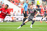 Leif Davis of Leeds United (40) in action during the EFL Sky Bet Championship match between Bristol City and Leeds United at Ashton Gate, Bristol, England on 4 August 2019.