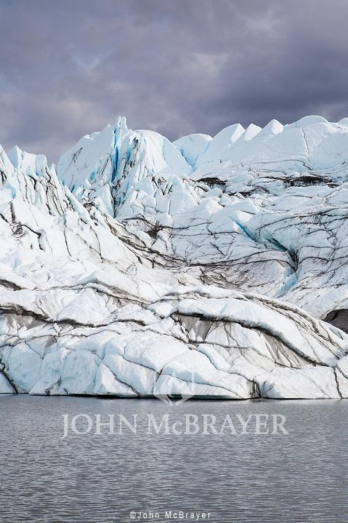 A view of the Matanuska Glacier in Alaska. © John McBrayer